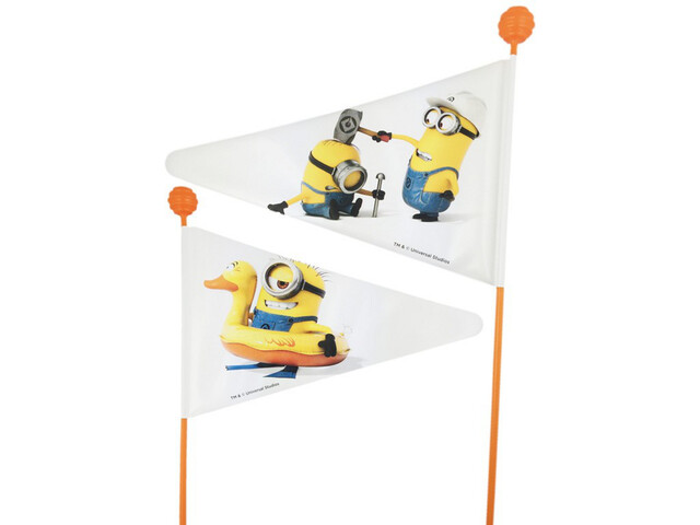 Bike Fashion Minion Mât de fanion, white